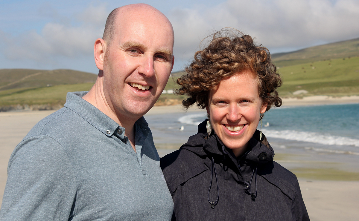 Ellen Weir and her husband Alastair Weir – a Baptist Church pastor based at Dunrossness Baptish Church.
