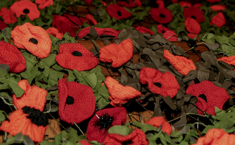 Each poppy has been carefully handmade