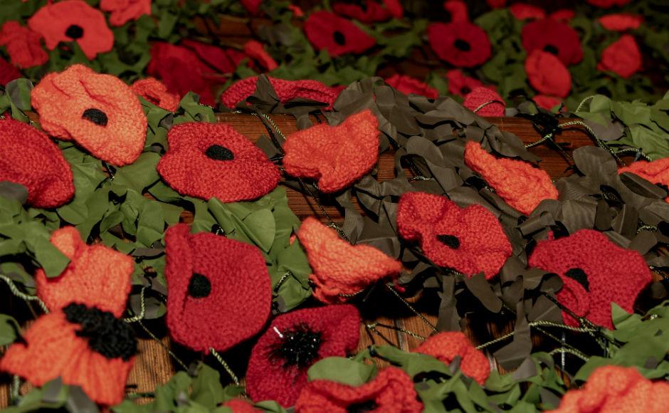Each poppy has been carefully handmade