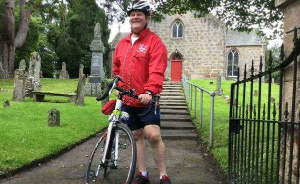 Rev Robert Brookes outside Cawdor Parish Church