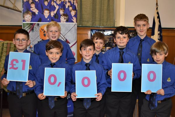 A group of Boys' Brigade award winners