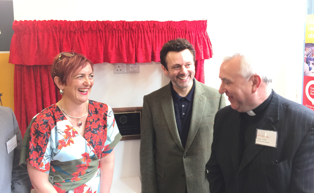Angela Constance MSP, Michael Sheen and Rev Iain May