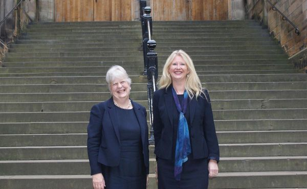 Rev Professor Susan Hardman Moore (left) and Professor Helen Bond