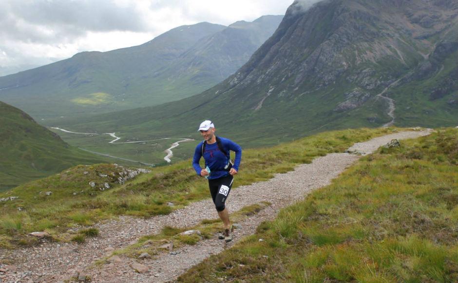 Mark Calder running an ultra marathon