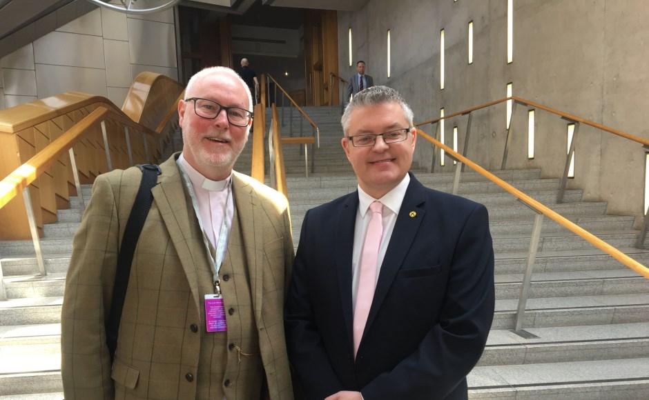 Rev Alan Sorensen and Stuart McMillan MSP