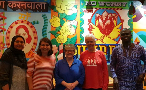 Some of the group going to Ghana. L-r Farkhanda Chaudhry, Mirella Yandoli, Very Rev Dr Susan Brown, Rev Anne Stewart and Dr Yahya Barry