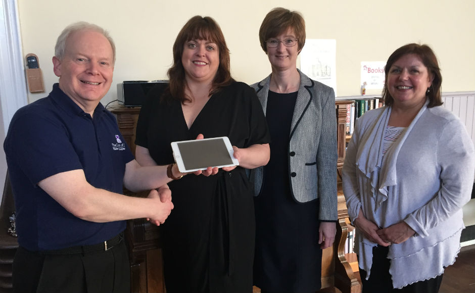 L - r Mission development worker Rob Rawson, family development worker Lorraine McBrearty, Minister Rev Alison McDonald and Session Clerk Heather Duffy