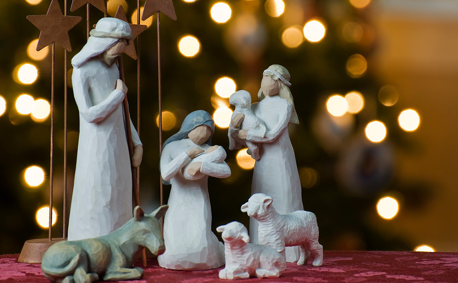 Nativity scene in clay