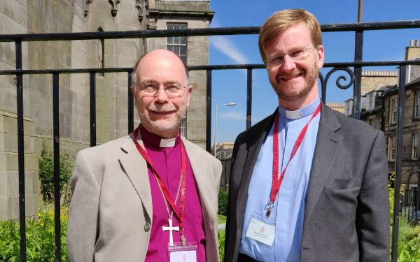 Rt Rev John Armes, Bishop of Edinburgh, and Rev Sandy Horsburgh, Convener of the Church of Scotland's Ecumenical Committee