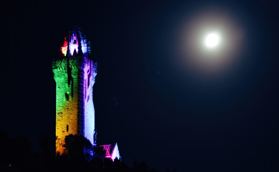 The Wallace Monument at night. Copyright of Barry Hughes