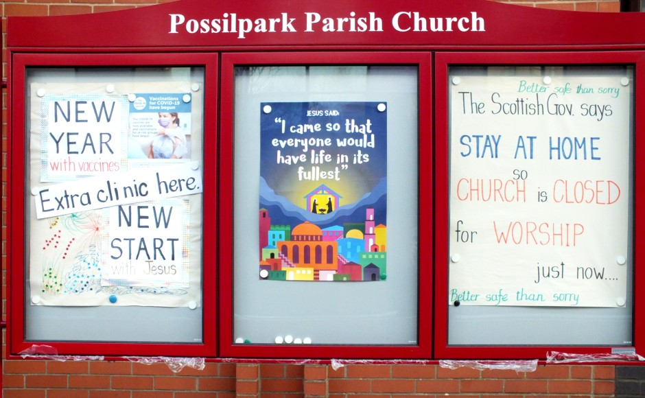 Possilpark Parish Church is being used as a vaccination centre