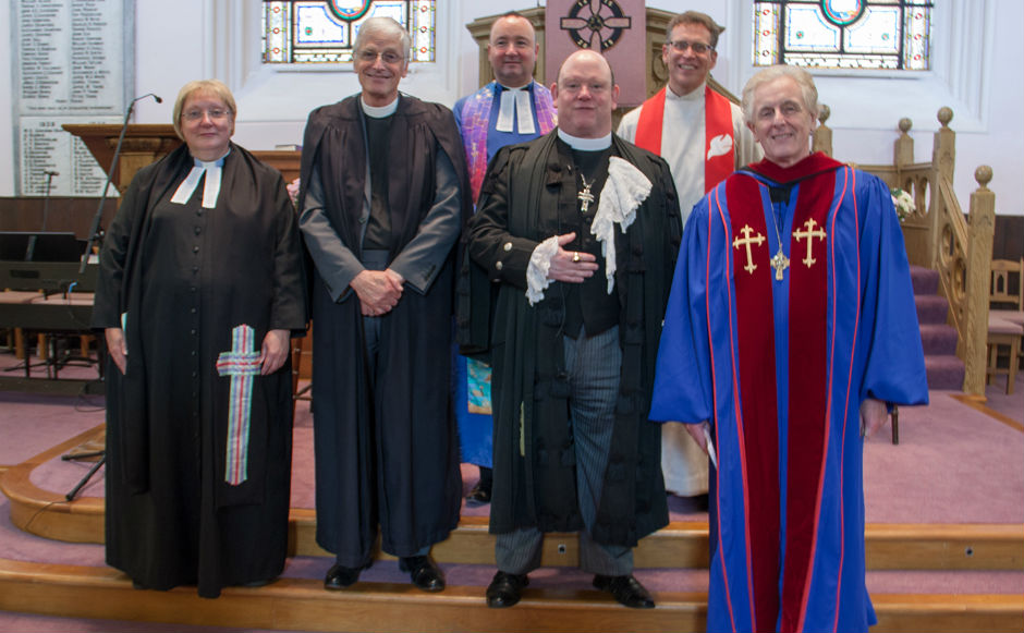 Ministers from St Andrews Presbytery with the Moderator