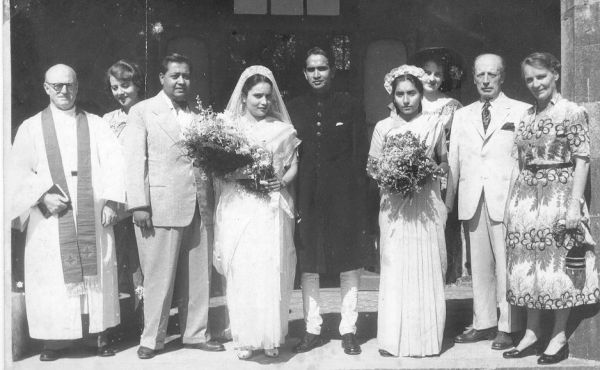 Neville's parents Paul and Dolly Raschid at their wedding in 1952