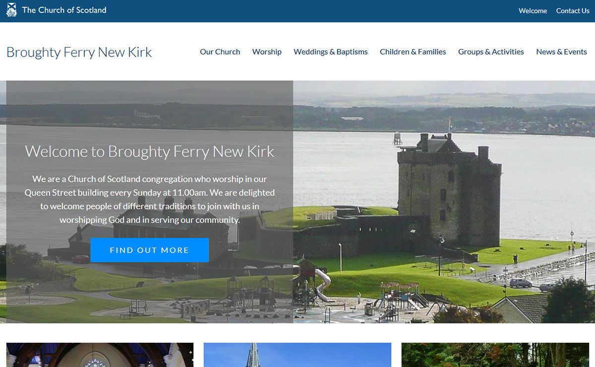 Broughty Ferry New Kirk website