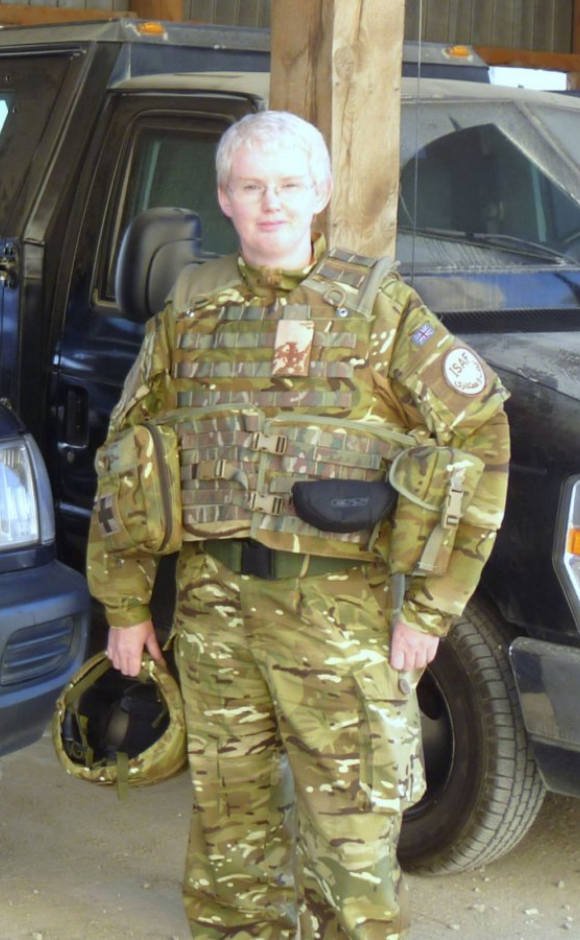 Rev Dr Marjory MacLean serving in Afghanistan