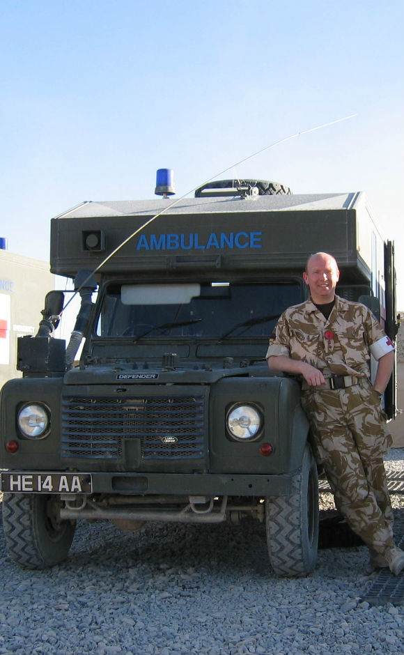 Dr Ian Mellor in Afghanistan
