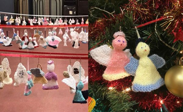 Knitted angels in Prestwick