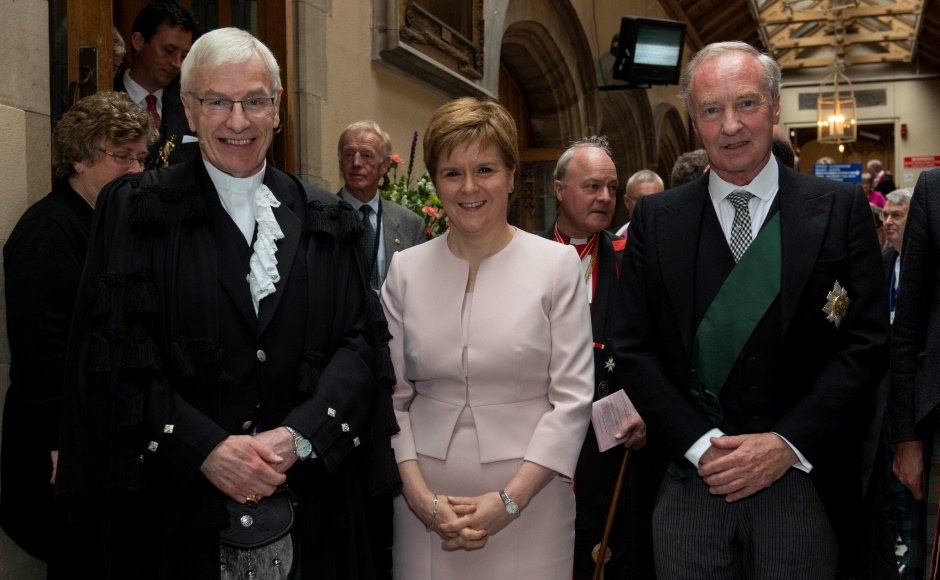 Rt Rev Colin Sinclair, First Minister Nicola Sturgeon and the Lord High Commissioner, The Duke of Buccleuch and Queensberry