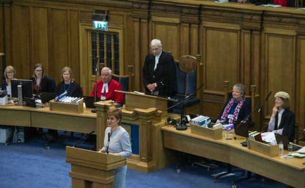 First Minister Nicola Sturgeon addresses the General Assembly