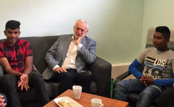 Jeremy Corbyn and the Bakhsh brothers