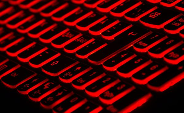 Glowing red keyboard