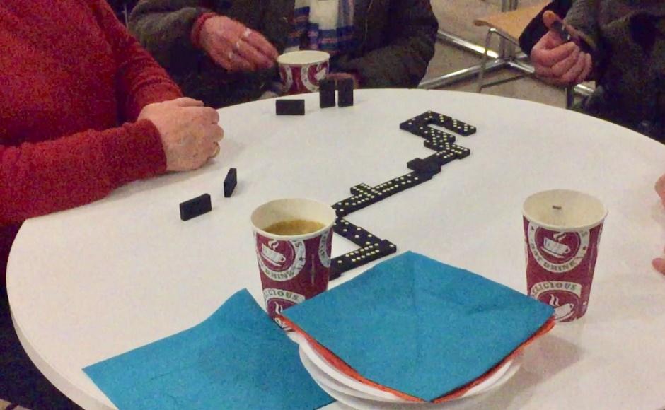 Homelessness games cafe