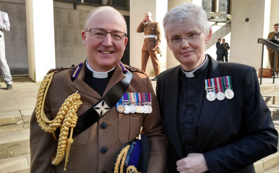 Ven Clinton Langston, the newly appointed Chaplain General, and Rev Dr Marjory MacLean, Convener of the Chaplains to Her Majesty's Forces Committee