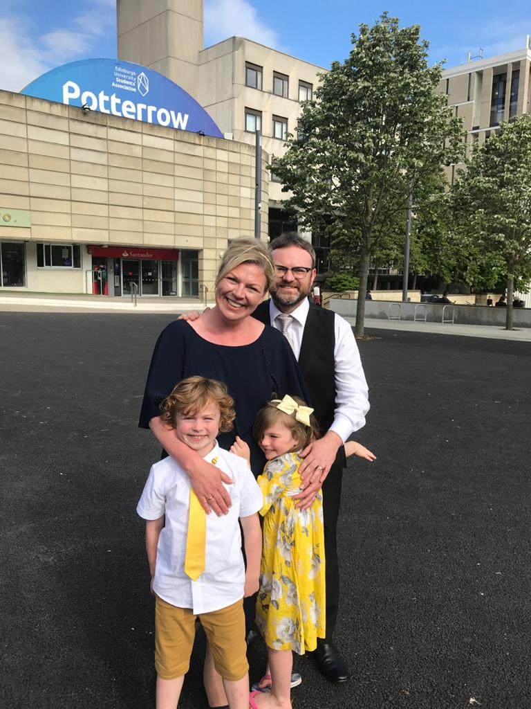Louise Purden and family