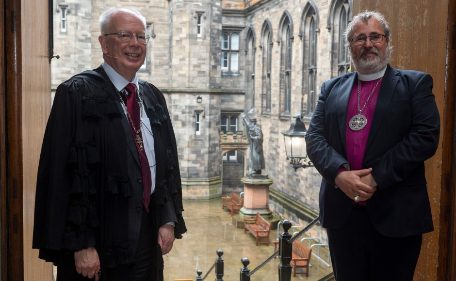Lord Jim Wallace, Moderator of the General Assembly of the Church of Scotland, with Most Rev Mark Strange, Primus of the Scottish Episcopal Church