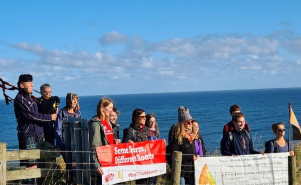 Walkers made up of the Young Christian Climate Network, the Church of Scotland and Christian Aid