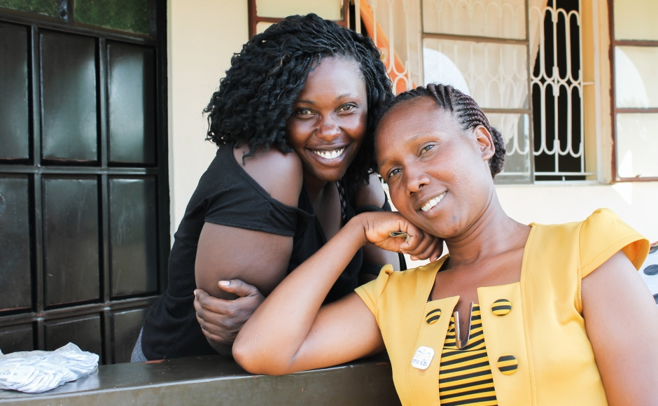 Two young women from Kenya