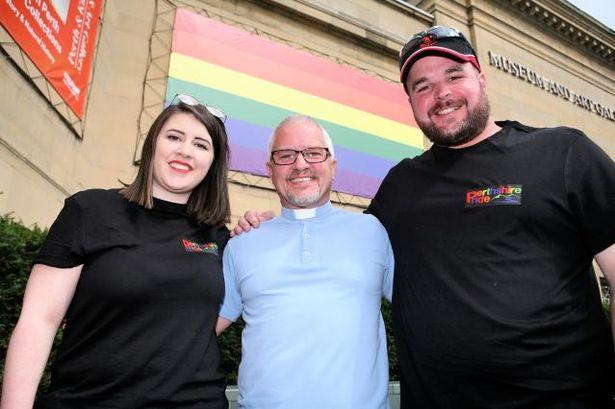 Scott Burton at Pride festival