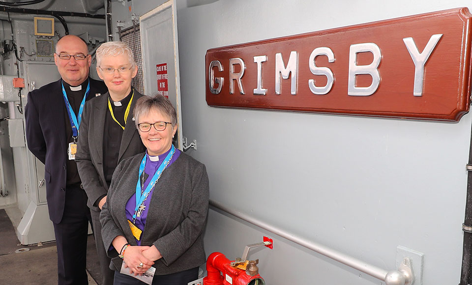 The Moderator visiting HMS Grimsby based at HM Naval Base Clyde