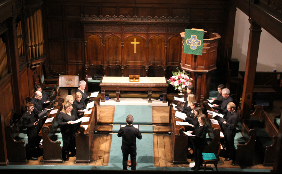 The choir at Crown Court