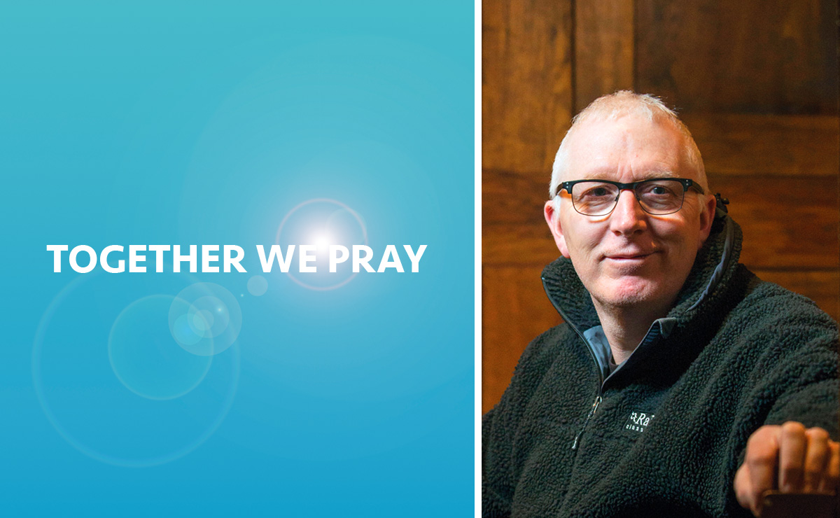 Martin Fair beside a graphic saying Together We Pray