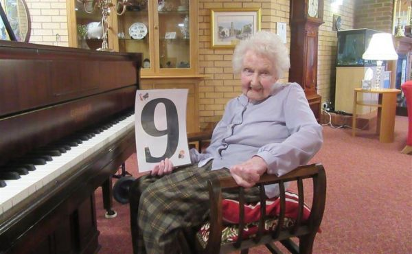 Rebecca, 98, on a musical mission to raise money for NHS