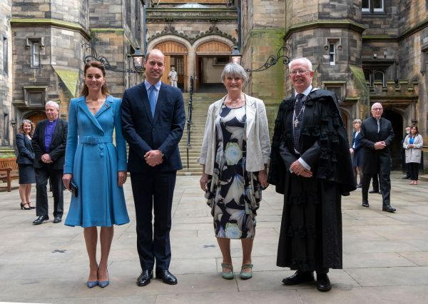 The Earl and Countess of Strathearn with the Moderator and Lady Wallace
