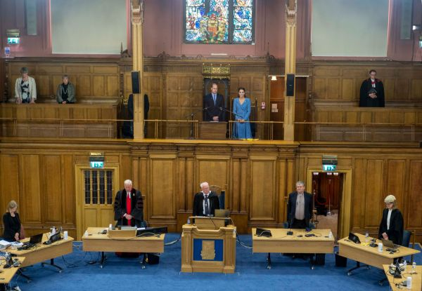 Proceedings in Assembly Hall
