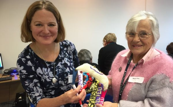 CrossReach development worker Tanya Anderson, who created Cal the Octopus with Guild member Marjorie Macpherson