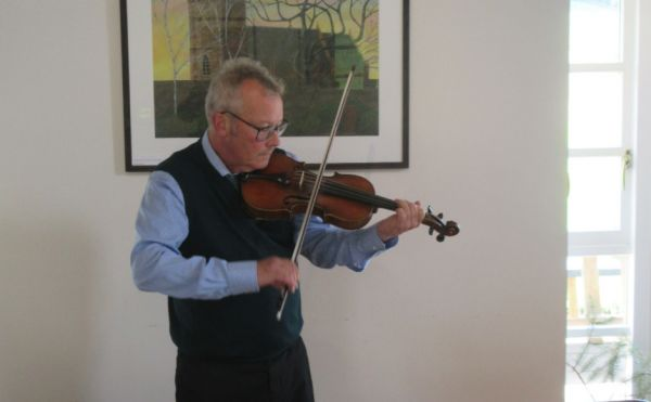Pete Clark playing Archie Morrison's violin
