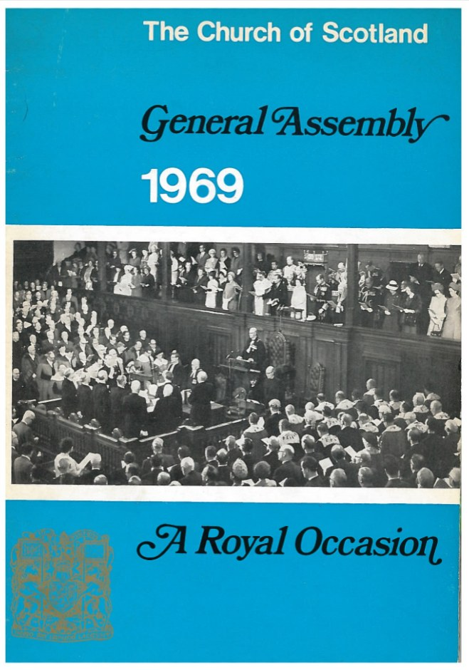 A commemorative booklet was published after the 1969 General Assembly featuring the speech of the Duke of Edinburgh