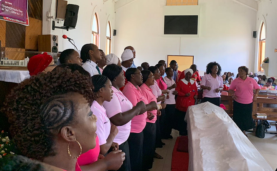 During his trip, Colin preached in front of around 1,000 people at Holy Trinity Church in Lusaka on the first Sunday of Lent