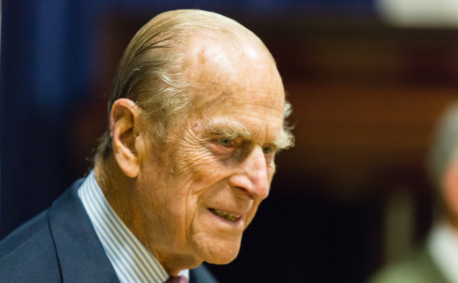 Prince Philip visiting St Columba's Church of Scotland in London in 2015. Image by Matthew Bruce