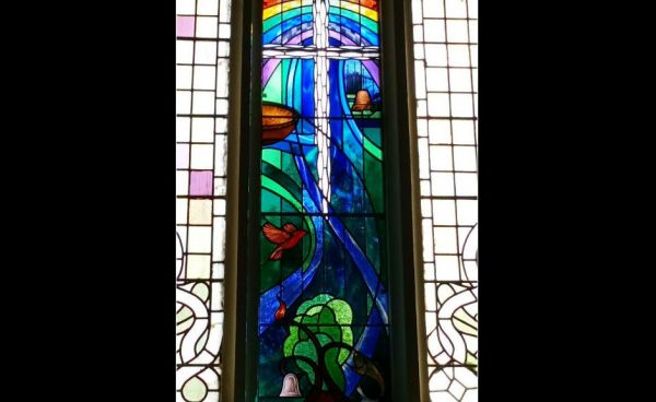 Stained glass window at St Mungo's in Alloa