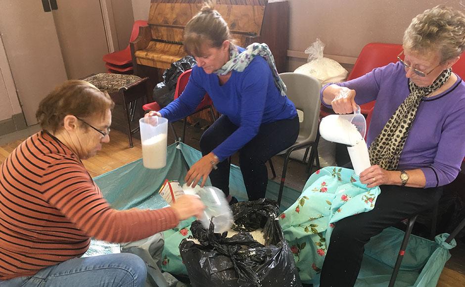 The group at Lochee Parish Church create their wonder boxes