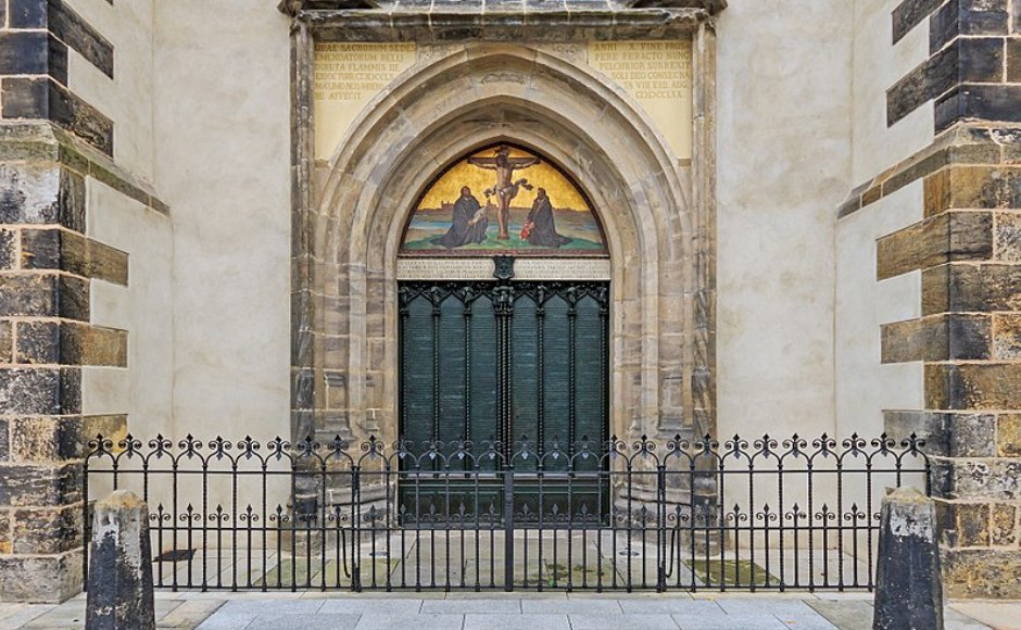 The door of All Saints' Church Wittenberg