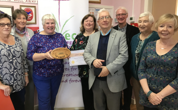 Lomond Parish Church receiving the Eco Congregation Scotland Gold Award