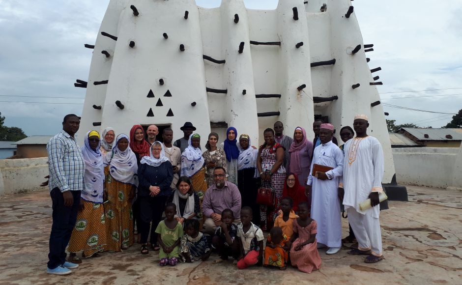 The group were welcomed at the 16th century Nakore Mosque