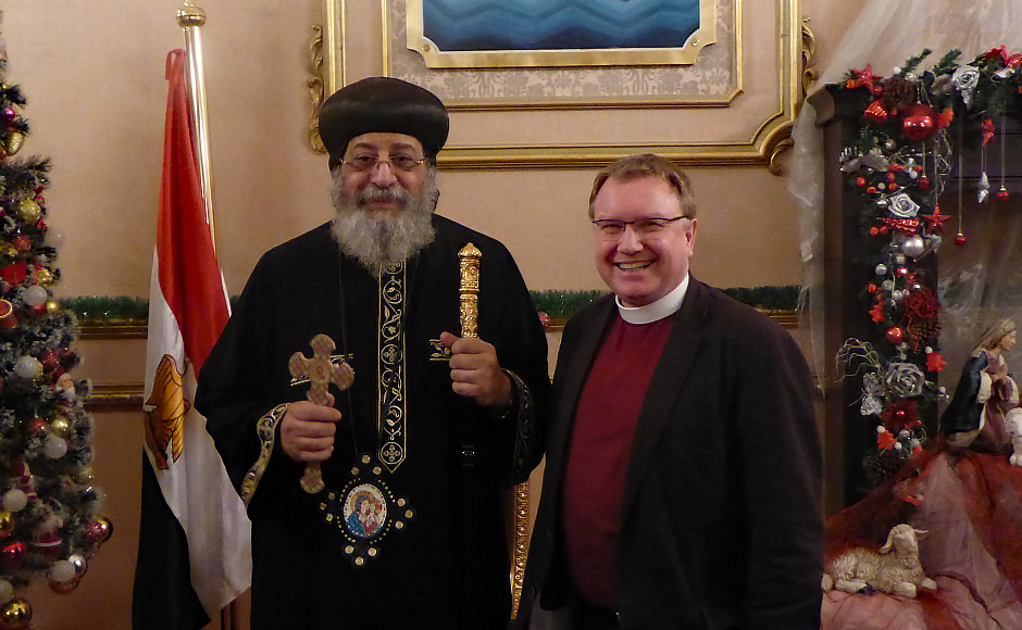 Rev Ian Alexander with Pope Tawadros II