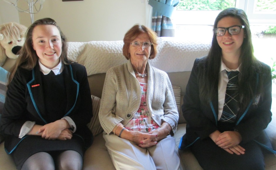 Mrs Anne Robb with pupils